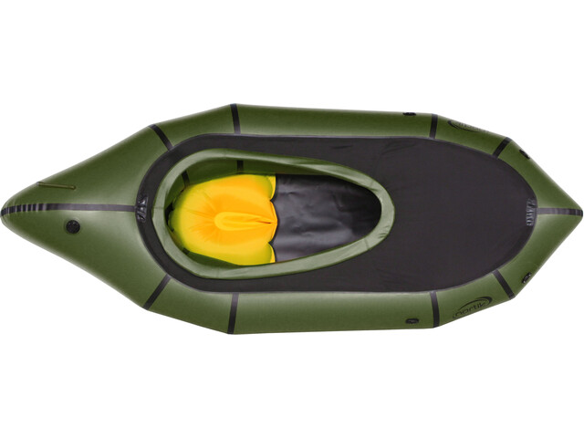 nortik TrekRaft Dinghy with canopy, dark green/black